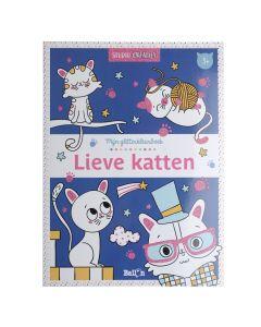3+ Glitterkleurboek - Lieve katten