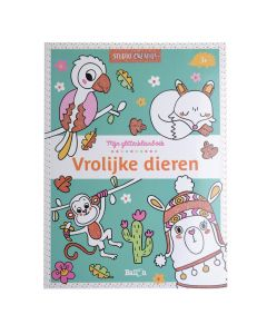 3+ Glitterkleurboek - Vrolijke dieren