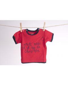 Baby-T-shirt maat 68 Wacht maar tot ik bij de Chiro ben