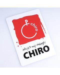 Sticker klein Als je 't mij vraagt Chiro 10 x 7 cm