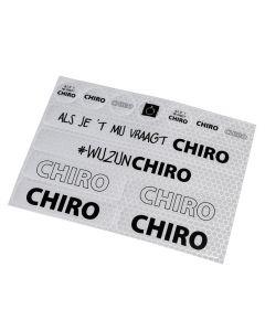 Stickervel Chiro met hoge reflectiewaarde A5