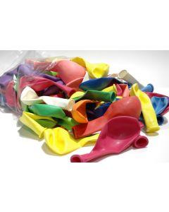 Ballon pastel 27 cm 100 stuks assortiment