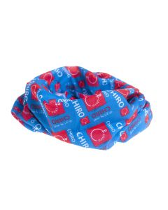 Multifunctioneel sjaaltje Chiro blauw keti