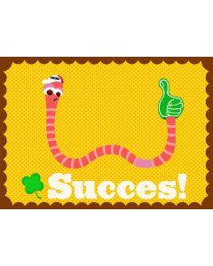Wenskaart worm Succes!