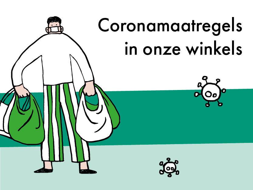 Coronamaatregels in de winkels